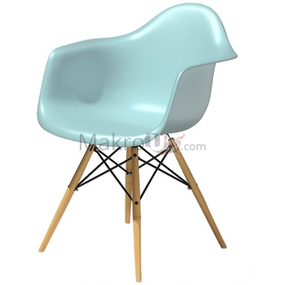 Eames Plastic Armchair With Dowel Leg Base