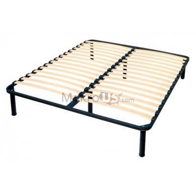 Metal Platform Bed Frame, Mattress Foundation, Queen Size